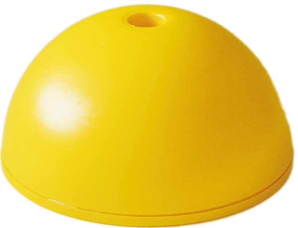 Hürdenfuß für 25mm Stangen Gelb