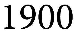 Chronik Jahreszahl 1900